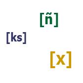 Звуки [ñ], [x] и [ks]