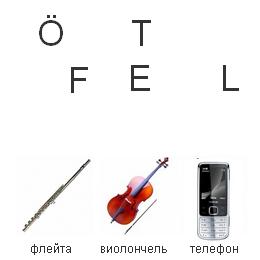 Собери слово. Musikinstrumente. Zimmer