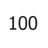 ciento - 100