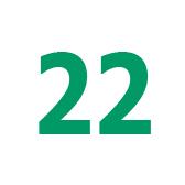twenty two - 22