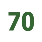 seitsemänkymmentä - 70