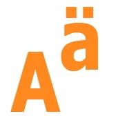 Гласные буквы A, Ä, I, E