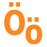 Гласные буквы O, Ö, U, Y