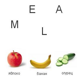 Собери слово. Еда