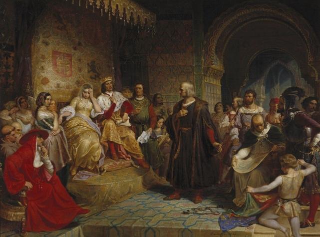 Христофор Колумб перед королями