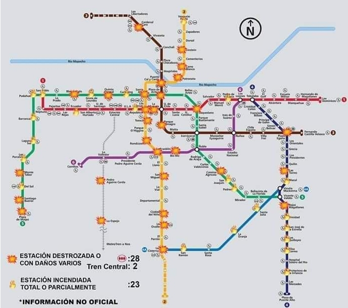 Карта разрушений метро