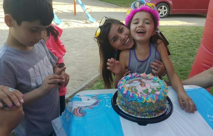 Тот самый торт с дыркой от большой свечки :)