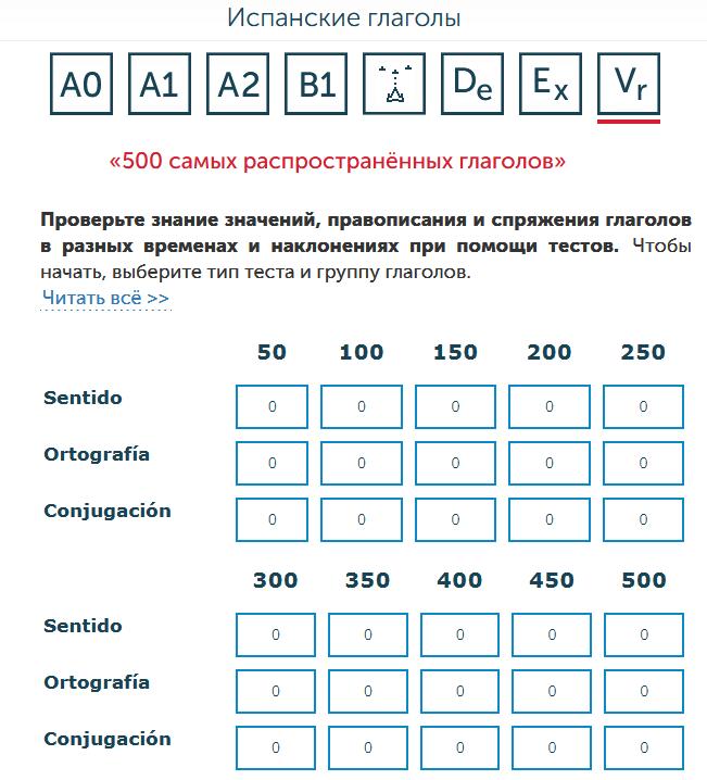 500 испанских глаголов
