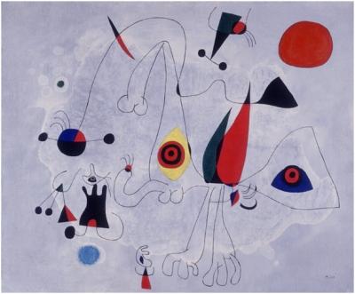 Женщина и птицы на рассвете, 1946, Фонд Миро, Барселона
