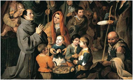 Bartolomé Esteban Murillo – San Diego de Alcalá dando comida a los pobres, 1646